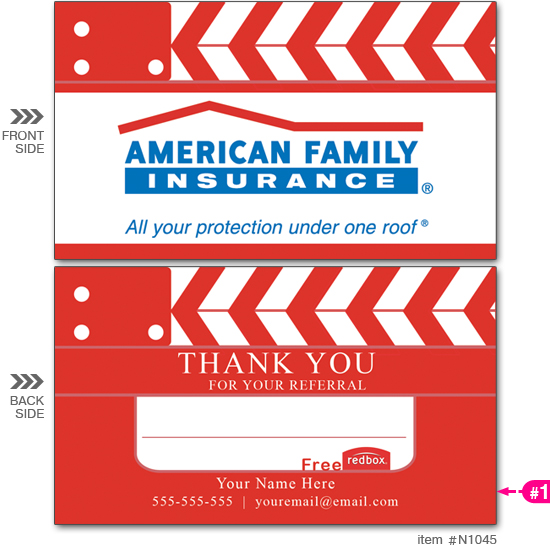 Am. Fam. Ins. Red Box Business Cards #N1045