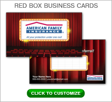 American Family Insurance Red Box Business Card #N1032
