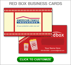 American Family Insurance Red Box Business Card #N1033