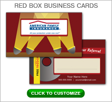 American Family Insurance Red Box Business Card #N1035