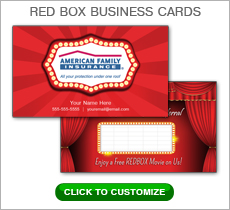 American Family Insurance Red Box Business Card #N1036