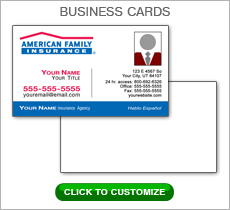 American Family Insurance Red Box Business Card #N1038