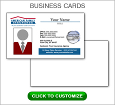American Family Insurance Red Box Business Card #N1039