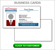 American Family Insurance Red Box Business Card #N1040