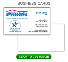 American Family Insurance Red Box Business Card #N1042