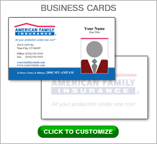 American Family Insurance Red Box Business Card #N1043