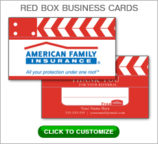 American Family Insurance Red Box Business Card #N1045