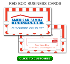 American Family Insurance Red Box Business Card #N1046