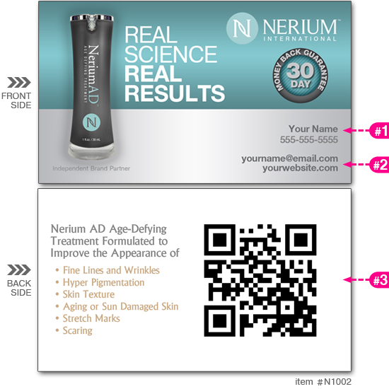 All products custom printing free shipping cardsandbanners nerium business cards n1002 reheart Gallery