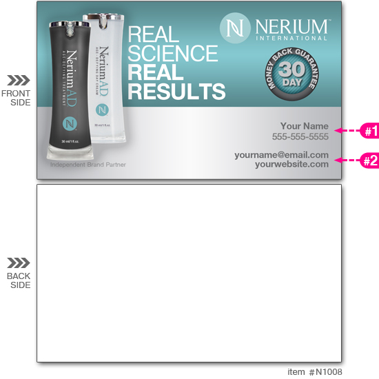 Nerium business cards n1008