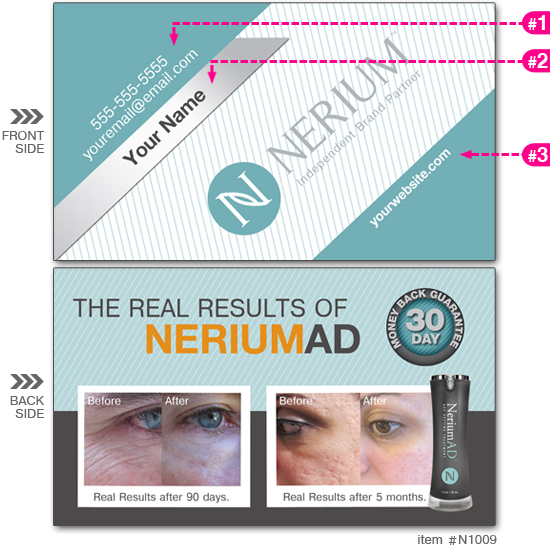 Nerium business cards n1009