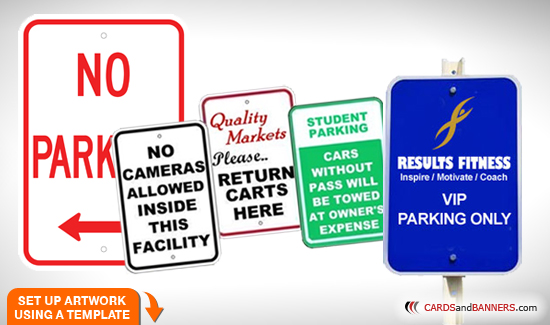 Aluminum Parking Signs | Custom Printing Online Store