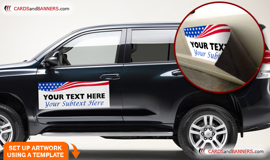 Car Magnets CARDSandBANNERScom Full Color Printing FREE - Custom car magnets