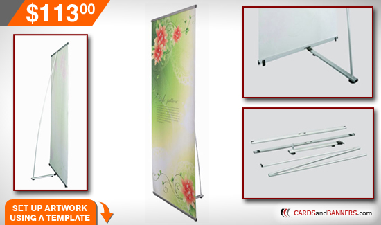 l banner stand instructions