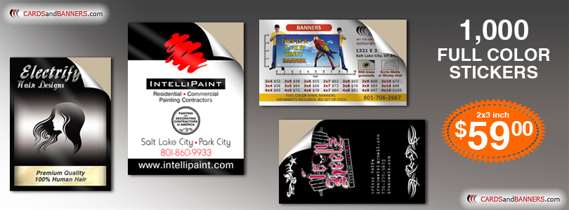 Full Color Sticker Printing