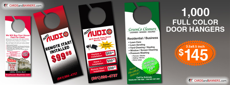 Full Color Door Hanger Printing