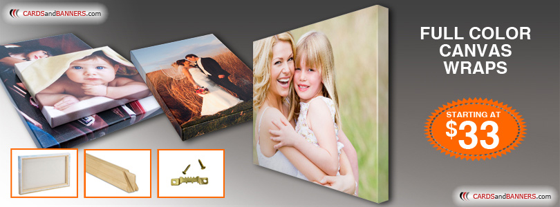 Full Color Canvas Wraps